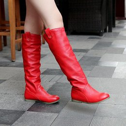 $enCountryForm.capitalKeyWord Australia - Wholesale-big size US 4-11 drop wholesale fashion style knee-high heel boots for women snow flat boots HSY1-8Q