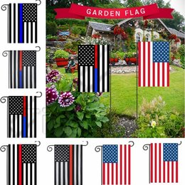 $enCountryForm.capitalKeyWord NZ - New 30*45cm BlueLine USA Police Flags party decoration Thin Blue Line USA Flag Black, White And Blue American Flag Garden flag 4736