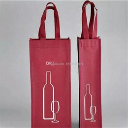$enCountryForm.capitalKeyWord Australia - Portable Non-woven Fabric Red Wine Storage Bag For One Double Bottles Wine Package Gift Party Packing Handbags aa454-457 2017120803
