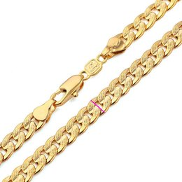 $enCountryForm.capitalKeyWord UK - Classics Men Solid Gold FINISH Cuban Link Chain Real Plated Curb Necklace