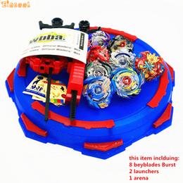 2592c4bc4a2af6 Beyblade Burst Toys mit Launcher-Starter und Arena  Bayblade-Metallschmelzgott-Kreisel Bey Blade Blades Toys