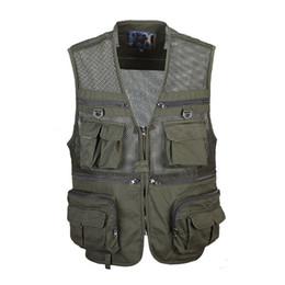 $enCountryForm.capitalKeyWord Australia - 2019 New Fashion Men's Mesh Vest Wholesale Men's Multi-Pocket Large size Photography Vest Camouflage Uniform Size 3XL