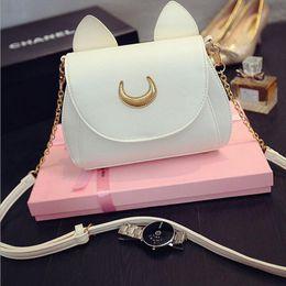 $enCountryForm.capitalKeyWord Australia - Wholesale-Sailor Moon Bags Nice Summer Limited For Lady Handbag With PU Leather Black White Cat Luna Moon Women Messenger Crossbody Bag