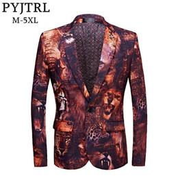 $enCountryForm.capitalKeyWord Canada - PYJTRL 2018 New Male Blazer Design Tide 3D Animal Print Plus Size Casual Suit Jacket Costume Homme DJ Singer Out Fit Jackets Men #530695