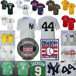 BreathaBle athletic shorts online shopping - Reggie Jackson Jersey Los Angeles Cooperstown Angels Yankees Oakland MN Athletics Hall Of Fame HOF Pullover Button Flexbase Cool base