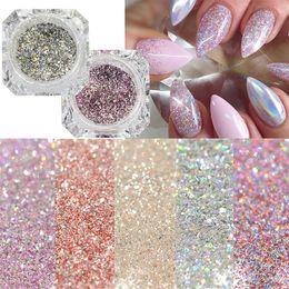 $enCountryForm.capitalKeyWord Australia - 1Box Laser Nail Art Nail Glitter Pigment Powder Gold Blue Purple Dust Manicure DIY Art Platinum Diamond Chrome Powder
