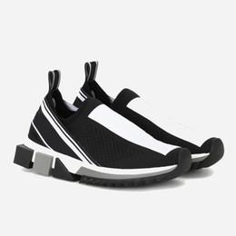 6c8873a43d Moda de lujo Sorrento Sneaker para hombre Zapatos de diseñador Tejido  elástico Slip-on Sneaker Lady Dos tonos Caucho Micro suela Zapatos  ocasionales 12