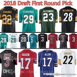 a9b59ec17 Arizona 23 Jaire Alexander 3 Josh Rosen Cardinal Jersey Buffalo 17 Josh  Allen Bill Jerseys 2018 Draft First Round Pick New