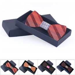 Wholesale Women Fashionable Tops Australia - PSW 100 MOQ Real Wooden Bow Ties Top fashionable custom wooden bow tie with fancy box packing