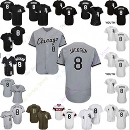 5ede7b6c Custom Chicago Bo Jackson Jersey White Sox Jerseys Cooperstown 8 White Black  Red Grey Home Away Men WomenCool Base Flexbase Youth Cheap