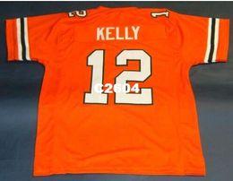 7d9d6e696c2 Discount miami football jerseys - Men  12 JIM KELLY CUSTOM UNIVERSITY OF MIAMI  HURRICANES College
