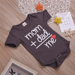 Discount kawaii style clothing - 2019 INS Summer Newborn Baby Clothes Boy Girl Kids Cotton Bodysuit Funny Cute Kawaii Outfits Infant Short sleeve Jumpsui