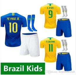 $enCountryForm.capitalKeyWord Australia - 2018 2019 FIRMINO World Cup kids Soccer Jersey G.JESUS P.COUTINHO MARCELO 18 19 kit FRED PELE Football shirt home away children uniforms