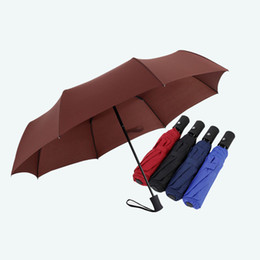 wholesale sun umbrellas NZ - Sun Umbrella Automatic Three Folding Umbrella Rain Woman Man Female Ultralight Parasol CF876