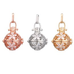Pendant Pregnant Australia - Crystal Flower Mexican Chime Ball Angel Ball Perfume Diffuser Pregnant Pendant For Women Gift