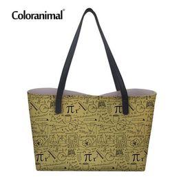 $enCountryForm.capitalKeyWord Australia - Coloranimal 2d Math Print Women Shopper Bags Women s Large Pu Leather Totes Beach Bags Storage Bag Luxury Design Handbags