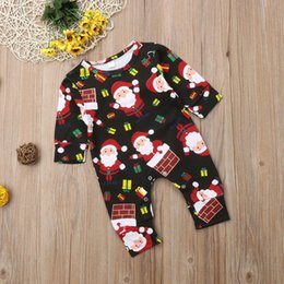 christmas rompers Australia - Baby Rompers Boys Girls Jumpsuits Cartoon Christmas Father Long Sleeve Long Pants Infant Newborn Baby Rompers Jumpsuits Bodysuit New Q419