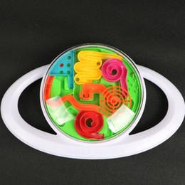 Discount puzzle maze ball - 3D Circular Handle Control Maze Ball Plastic Ball Maze Marble Puzzle Game Improve control Balance ability IQ Educational