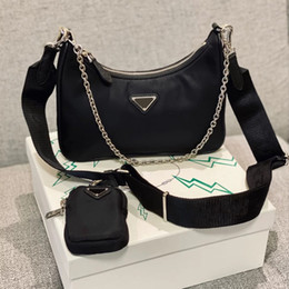 Wholesale red ribbons resale online - Re Edition nylon Designer shoulder bag high quality leather handbag designer best selling lady cross body luxury bag chain bag tote