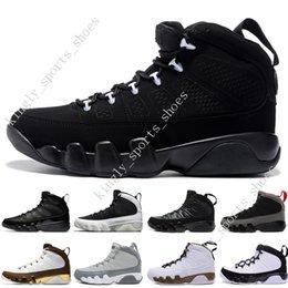 Black White Men Shoes Cheap Australia - 2018 Cheap NEW 9 9s LA Oreo Mens basketball shoes black white shoe space Jam Tour blue PE 9s Men sport trainer Sneakers designer US 7-13