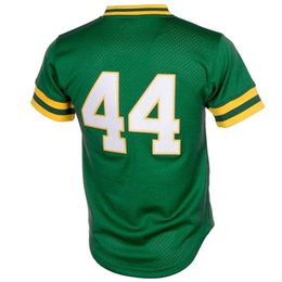 baseball jersey sizing Canada - MEN'S OA #44 Jackson Green Mesh EMBROIDERY THROWBACK BASEBALL JERSEY SIZE S M L XL 2XL 3XL