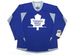 986870f90 Cheap custom TORONTO MAPLE LEAFS BLUE PRACTICE HOCKEY JERSEY stitch add any  number any name Mens Hockey Jersey GOALIE CUT 5XL