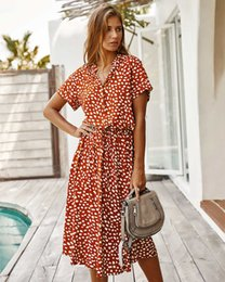 xl size sale dress NZ - 20s New Arrival Womens Designer Dresses Fashion Women Summer Printed Dresses Hot Sale Casual Streetwear Dress 2 Colors Size S-XL PH-YF20552