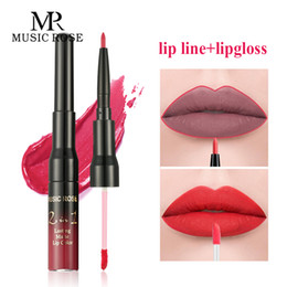 $enCountryForm.capitalKeyWord NZ - MUSIC ROSE Sale Items 24colors Sexy Women Lip Gloss+Lip Liner Glitter Gloss LipKit Lip Tint Set Long Lasting Lipgloss Liptube