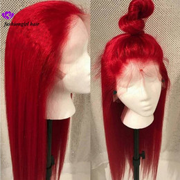 Chinese  New #613 Blue Red Pink Purple Yellow Colorful Brazilian Straight lace front wig Pre Plucked Lace Frontal synthetic hair wig for women manufacturers