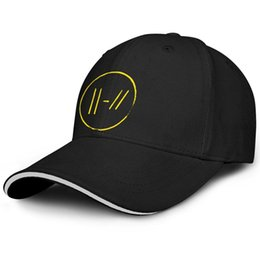 Cotton Trench Australia - Curved Men Women ball cap Vintage Twenty One Pilots Trench Logo custom fitted baseball hats Outdoor Unconstructed hats 100% Cotton