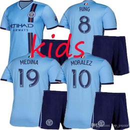 92957a75 top quality Kids Suit nycfc 2019 New York City soccer jersey home 19 20 MLS LAMPARD  PIRLO MCNAMARA MORALEZ kid football shirts suit
