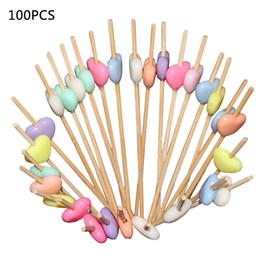 CoCktail toothpiCks online shopping - Cocktail Picks Handmade Cupcake Cocktail Toothpicks Kawaii Mini Fruit Fork Salad Sticks