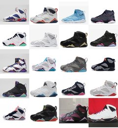 27279c13c9d3cd Womens retro 7s basketball shoes j7 Olympic Gold UNC Blue Pure Money  Bordeaux Boys Girls Youth Kids Jumpman VII sneakers tennis with box