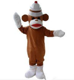 $enCountryForm.capitalKeyWord UK - Hot sale new style Sock monkey Adult Mascot Costume fancy dress for Chrstmas Festival Size : S M L XL XXL