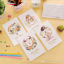 $enCountryForm.capitalKeyWord Australia - 4PCS Set Cute Mini Vintage Flower Notebook Lovely Animal Notepads for Kids Gifts Korean Stationery