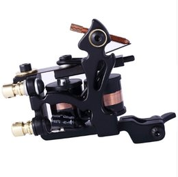 lighting coil UK - High Quality Coil Tattoo Machine 10 Warp Coil Light Weight Tattoo Guns For Shader&Liner Coloring Lining Tattoo Machines Beginner