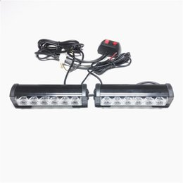 $enCountryForm.capitalKeyWord UK - 2x6LED Car Strobe Flash Light Modes Auto Warning Light 12W High Power Caution Lamp Project lights China modified lights