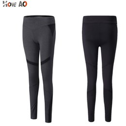 plus size woman gym tights 2019 - HOWE AOFitness Tights Pants Sports Women Workout Gym Patchwork Yoga Running Pants Plus Size Leggings Exercise cheap plus