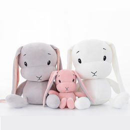 plush bunnies for wholesale NZ - 30CM Cute rabbit plush toys Bunny Stuffed &Plush Animal Baby Toys doll baby accompany sleep toy gifts For kids WJ491