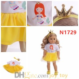 Toys for mermaid online shopping - 18 Inch Doll Cloth Dress Mermaid Unicorn Queen One Piece Skirt with Hair Wrap for American Girl Doll