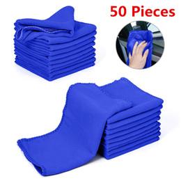 $enCountryForm.capitalKeyWord Australia - 50 pieces Microfiber Car Wash Towel Soft Cleaning Car Care Cloths Wash Towel Duster 9.84'' x 9.84''Inch Microfiber Towel Car