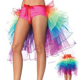 Wholesale adult women lace tutu skirts for sale - Group buy Women Gauze Custume Sexy Woman Skirts Adult Tulle Skirt Rainbow Tail Tutu Skirt Girls Cake Party Dance Ballet Skirt