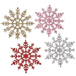 $enCountryForm.capitalKeyWord Australia - Sparkly Glitter Snowflake Christmas Ornaments Xmas Tree Hanger Garland Making Christmas Decorations 3Pcs Set