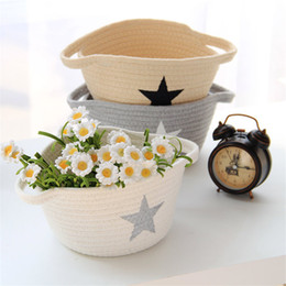 $enCountryForm.capitalKeyWord NZ - Nordic Five-Pointed Star Cotton Rope Storage Baskets Woven Dirty Clothes Laundry Basket Kids Toys Bins Sundries Organizer Hamper HK0342