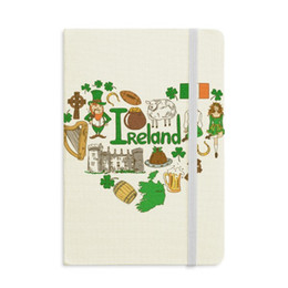 magnetic flag UK - Ireland Love Heart Landscap National Flag Notebook Fabric Hard Cover Classic Journal Diary A5