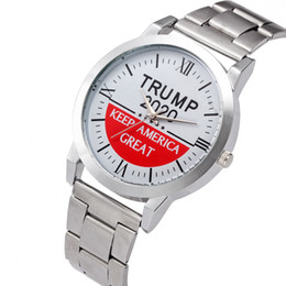 Trump Wrist Watches 5 Styles Trump 2020 Strap Watch Retro Letter Printed Men Boys Quartz Watches OOA7554-4 on Sale
