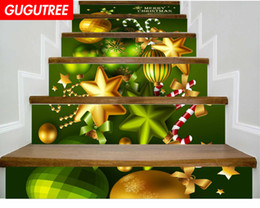 $enCountryForm.capitalKeyWord NZ - Decorate Home 3D Christmas cartoon art wall Stair sticker decoration Decals mural painting Removable Decor Wallpaper G-662