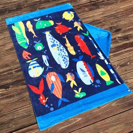 Kids Brands Towel Australia - Brand New Cotton Towels for Kids Soft Beach Wrap Size 127cm*76cm 100% Cotton Beach Towel Free Shipping