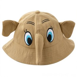 cute baby bucket hat NZ - Baby Boy Girl Caps & Hats Accessories Hat Elephant Bucket Cap for Toddler Kids Children Go Fishing Panama Sun Hats Child Cute Cartoon Fashio
