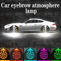 $enCountryForm.capitalKeyWord Australia - 4Pcs Lot Universal Car Light Car Decorative Lamp Wheel Eyebrow Lights Atmosphere Light Styling Accessories